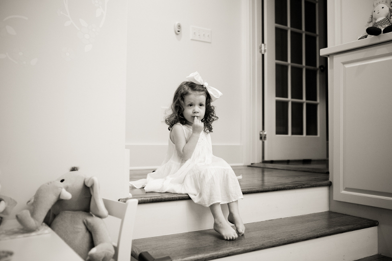 girl sitting on stairs