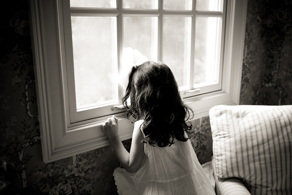 girl near window