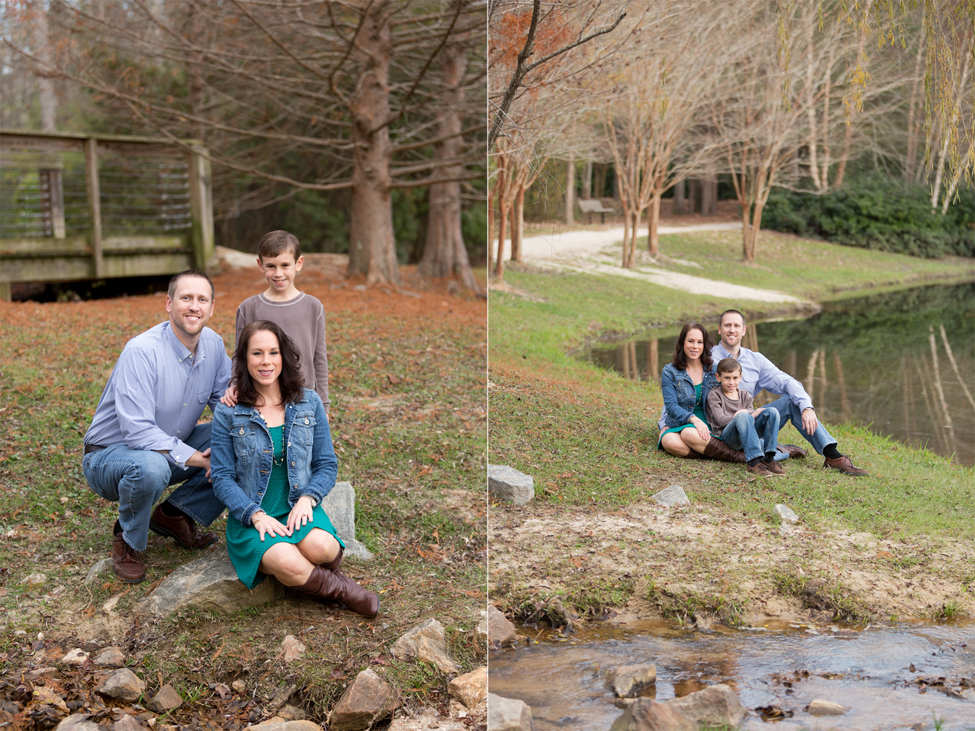 family photos near creek