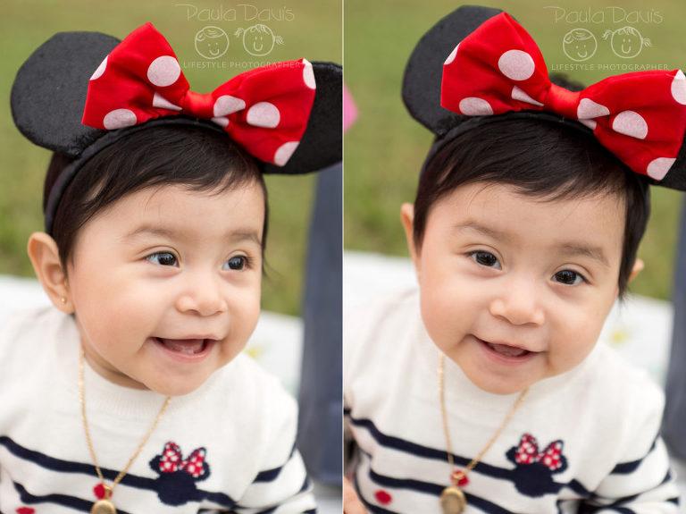 baby wearing minnie ears