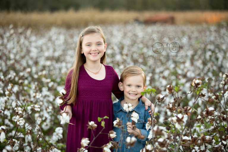 boy and girl together in cotton