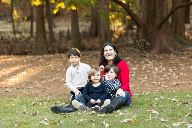 aunt with niece and nephew