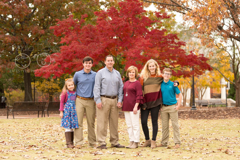 family photo in the fall