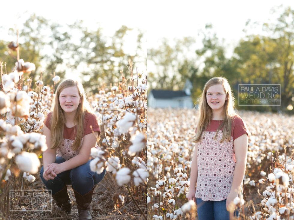 girl in alabama cotton